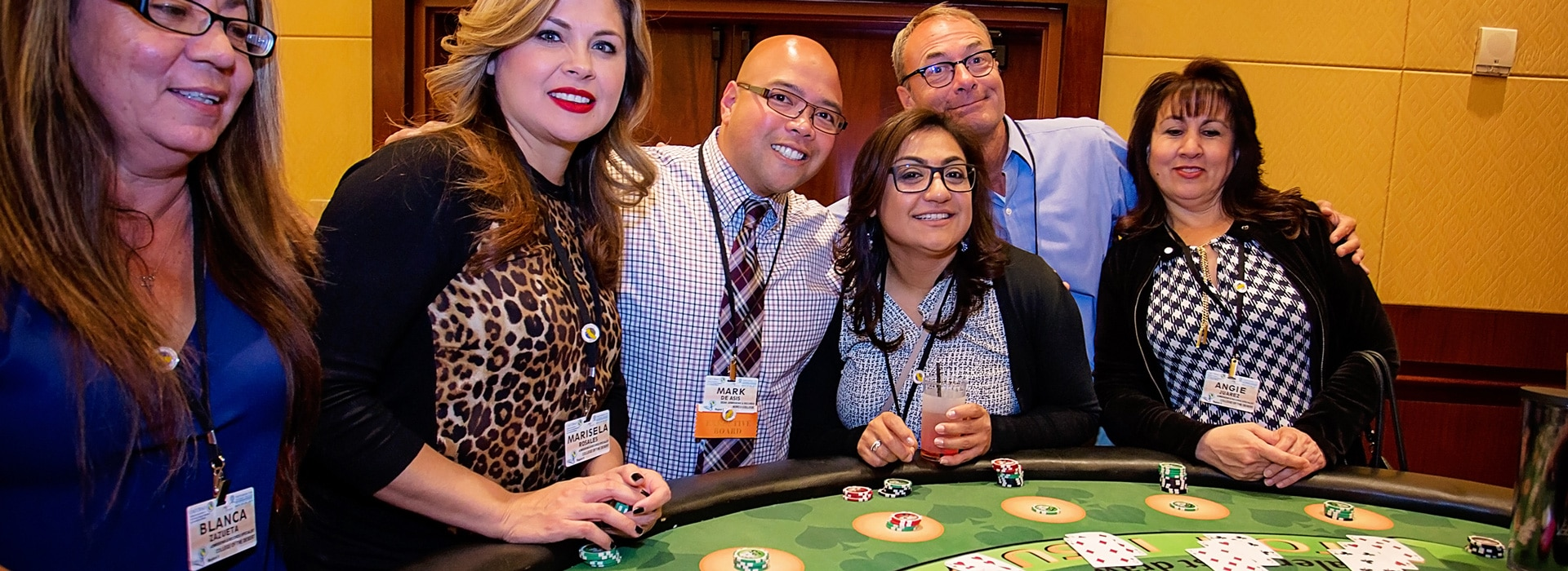 Playing Blackjack Company Event